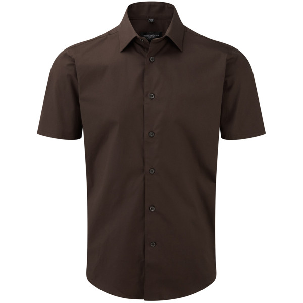 Shirt short sleeve stretch Slim Fit Russell®