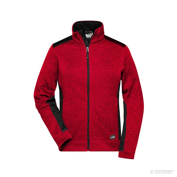 Damen Strickfleece Workwear Jacke James & Nicholson®
