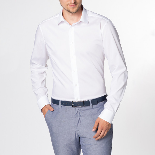 Langarm Hemd Slim Fit Stretch Kentkragen Eterna®