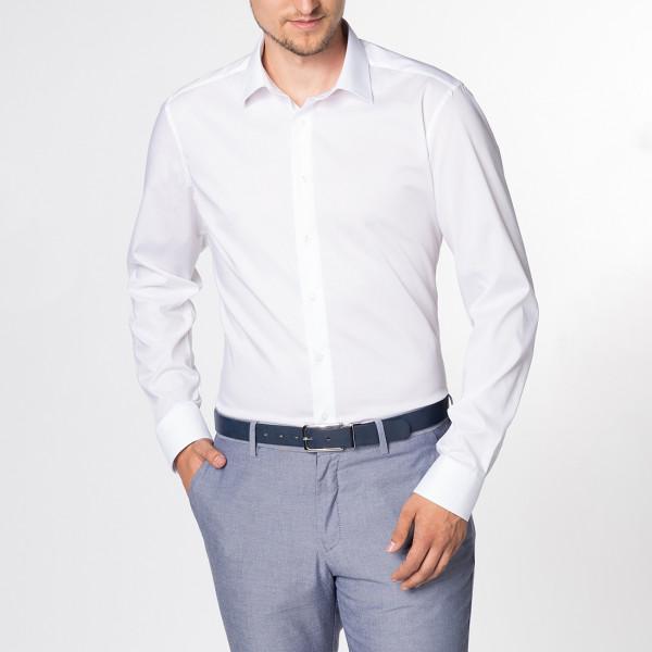 Long Sleeve Shirt Slim Fit Stretch Kent Collar Eterna®