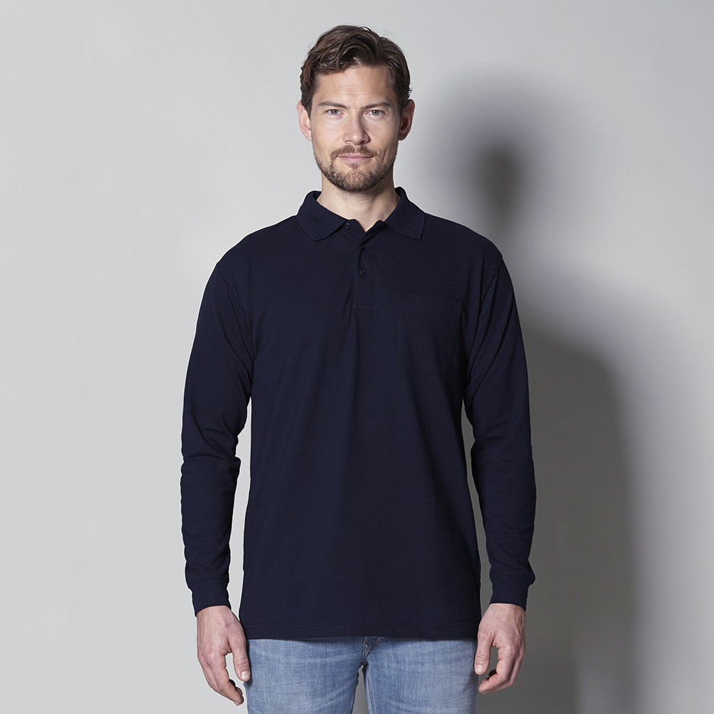 big sale 48fbb 3b8f3 Herren Arbeits Poloshirt Langarm mit Brusttasche ID Identity®