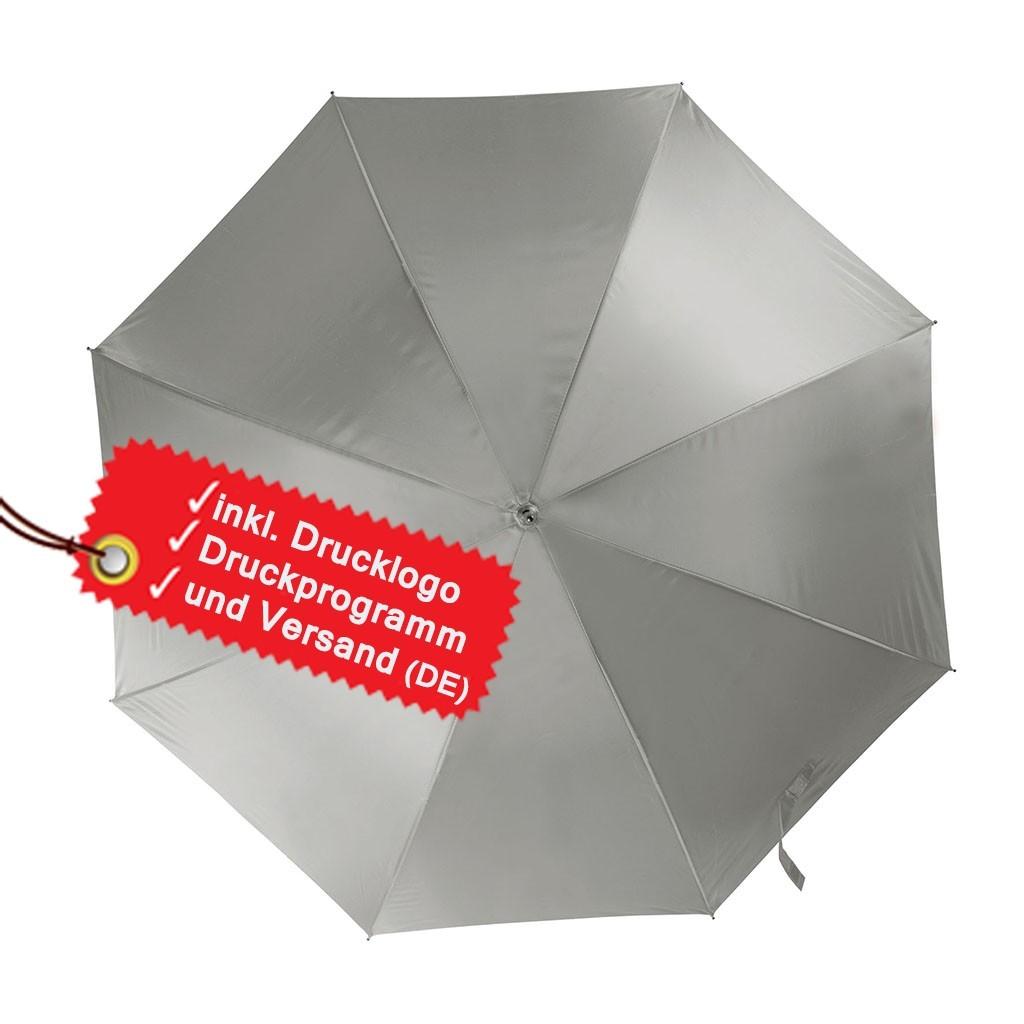 Automatischer Regenschirm bedrucken lassen inkl. Logo KiMood® | bedrucken, besticken, bedrucken lassen, besticken lassen, mit Logo |