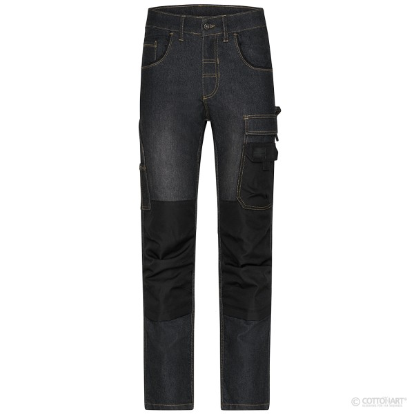 Unisex Workwear Stretch-Jeans James & Nicholson®