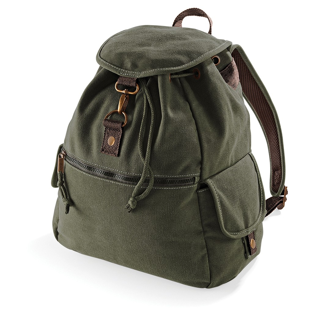 Vintage Canvas Backpack Quadra® | bedrucken, besticken, bedrucken lassen, besticken lassen, mit Logo |
