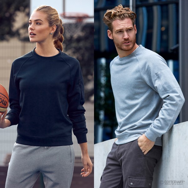 Unisex Basic Active Sweatshirt with round neck Clique®