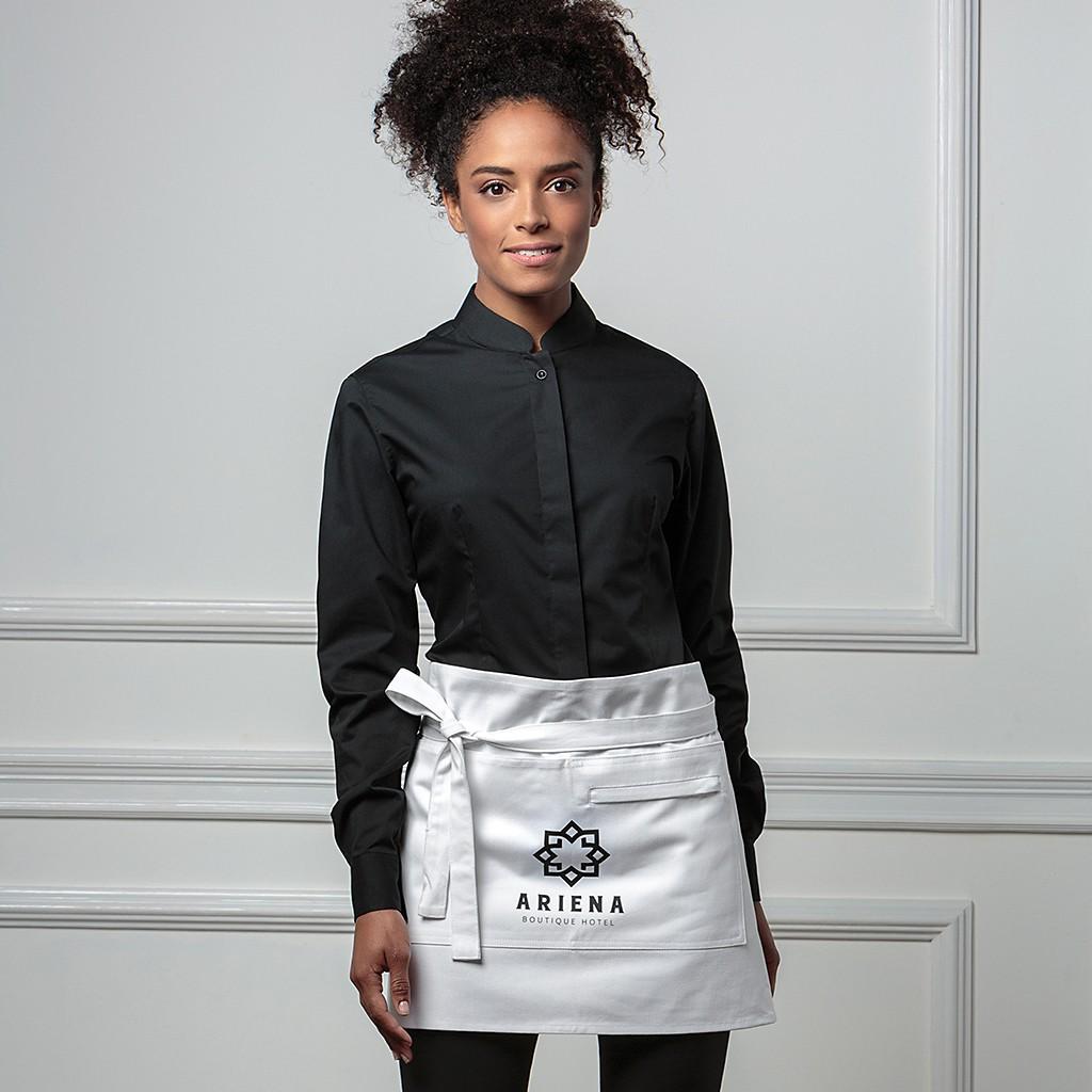 Stretchbluse Langarm China-Kragen Tailored Fit Bargear® | bedrucken, besticken, bedrucken lassen, besticken lassen, mit Logo |