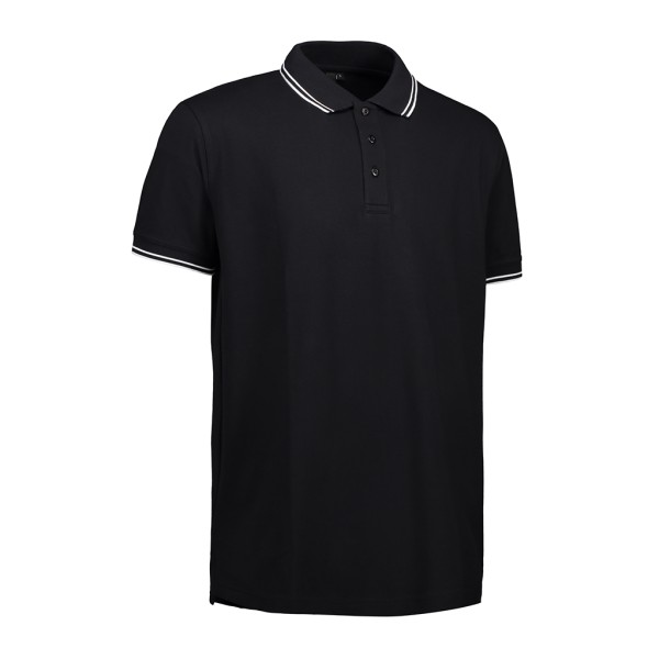 Stretch Poloshirt mit Kontraststreifen ID Identity®