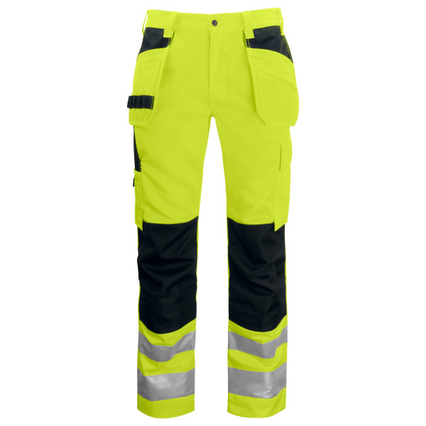 Warning protection Work trousers with front pockets EN ISO 20471 class 2 Projob®.