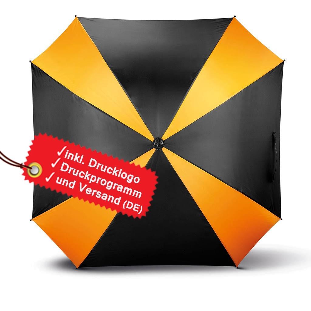 Quadratischer Schirm bedrucken lassen inkl. Logo KiMood® | bedrucken, besticken, bedrucken lassen, besticken lassen, mit Logo |