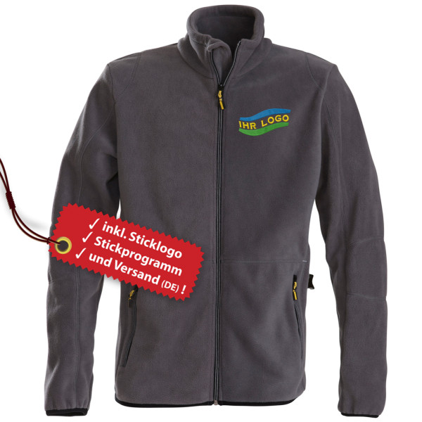 Men's fleece jacket Speedway embroidered incl. logo