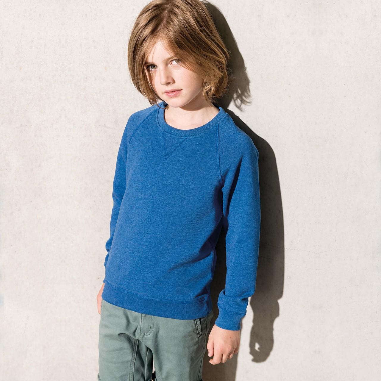 Kinder Sweatshirt aus Bio-Baumwolle Kariban® | bedrucken, besticken, bedrucken lassen, besticken lassen, mit Logo |